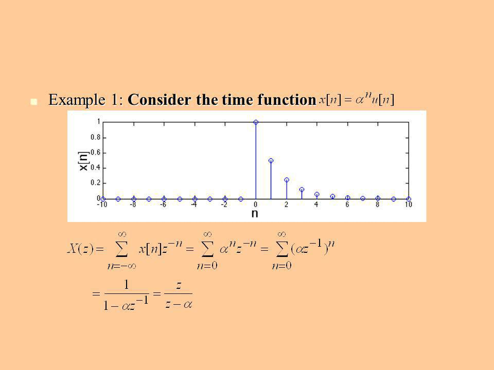Example 1: Consider the time function