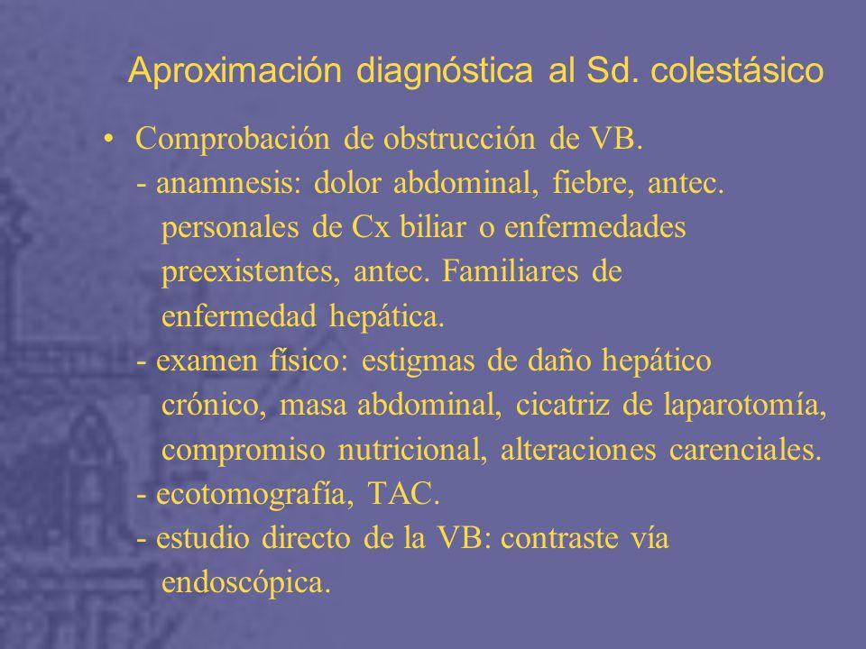 Aproximación diagnóstica al Sd. colestásico