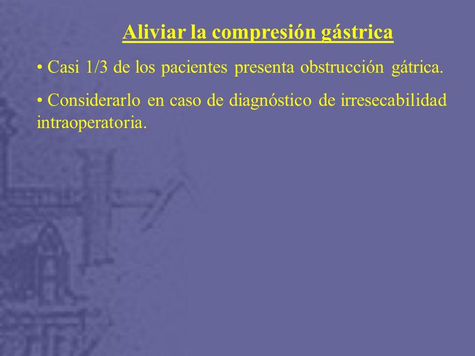 Aliviar la compresión gástrica