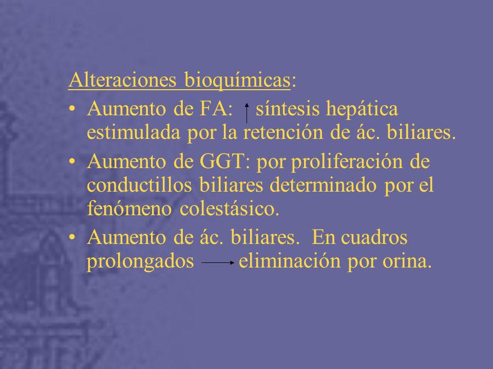 Alteraciones bioquímicas: