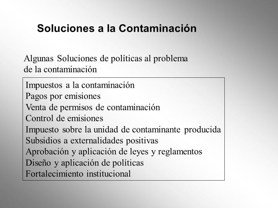 Soluciones a la Contaminación