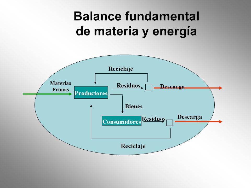 Balance fundamental de materia y energía