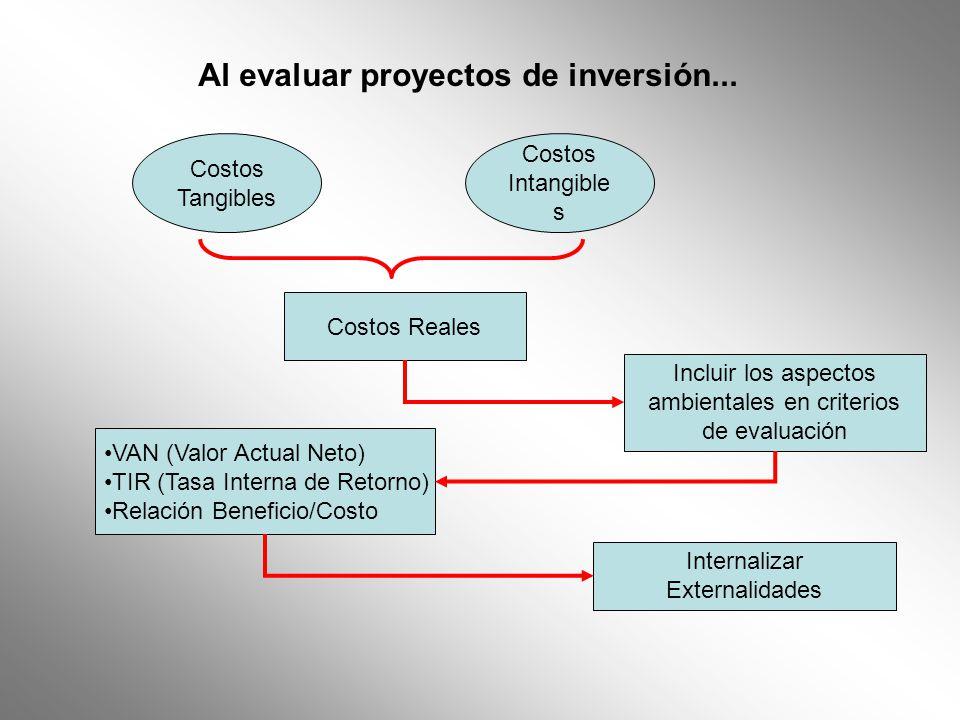 Al evaluar proyectos de inversión...