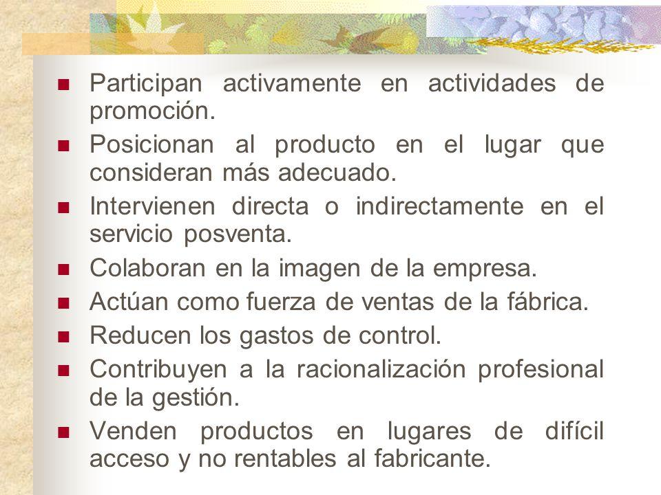Participan activamente en actividades de promoción.