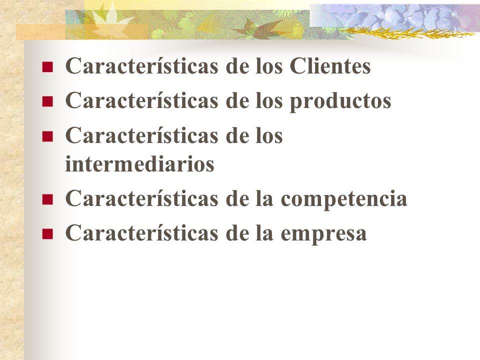 Características de los Clientes