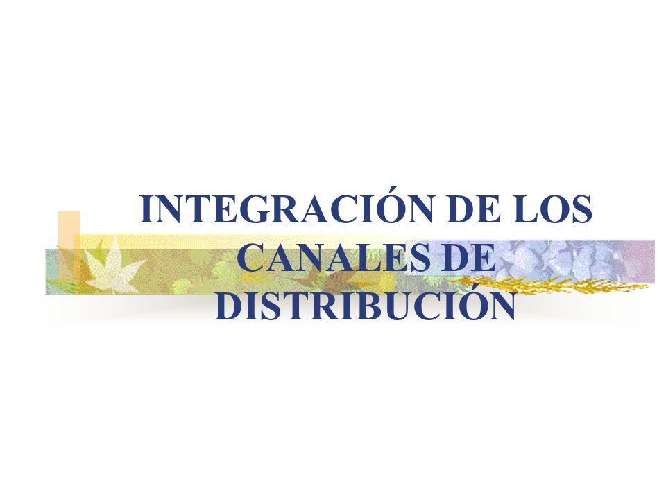 INTEGRACIÓN DE LOS CANALES DE DISTRIBUCIÓN