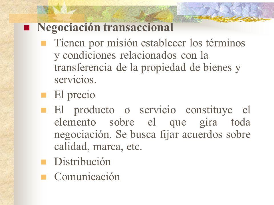 Negociación transaccional