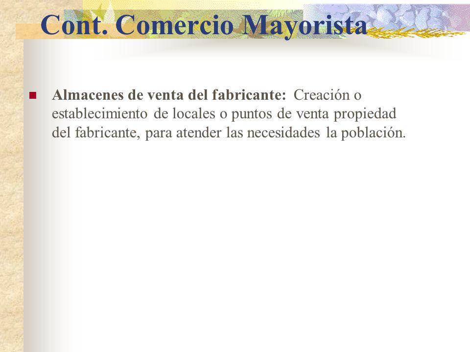 Cont. Comercio Mayorista