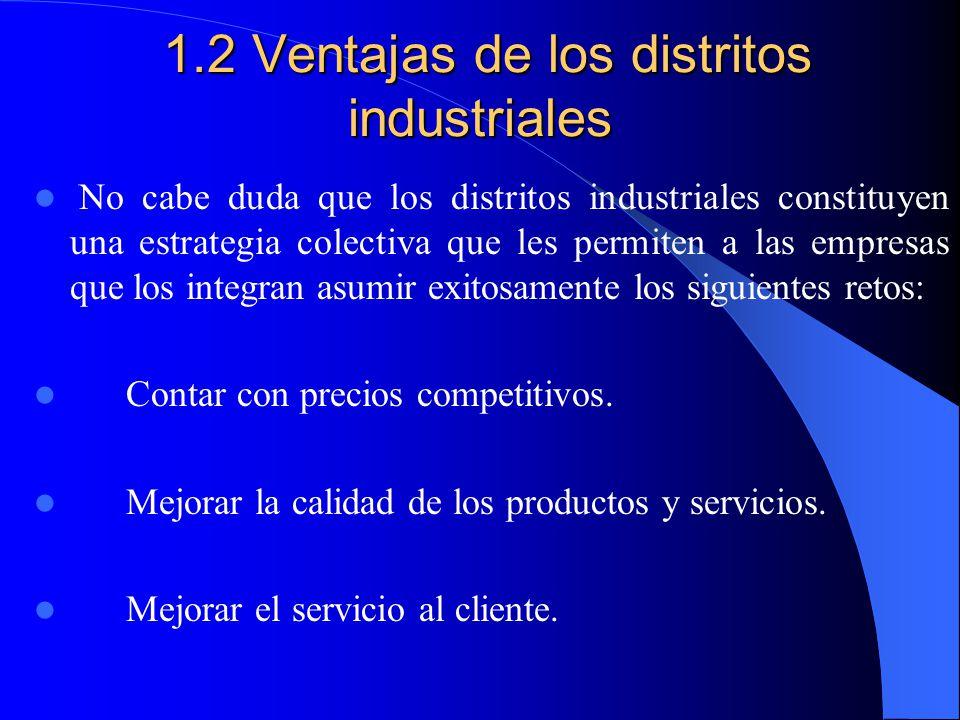 1.2 Ventajas de los distritos industriales