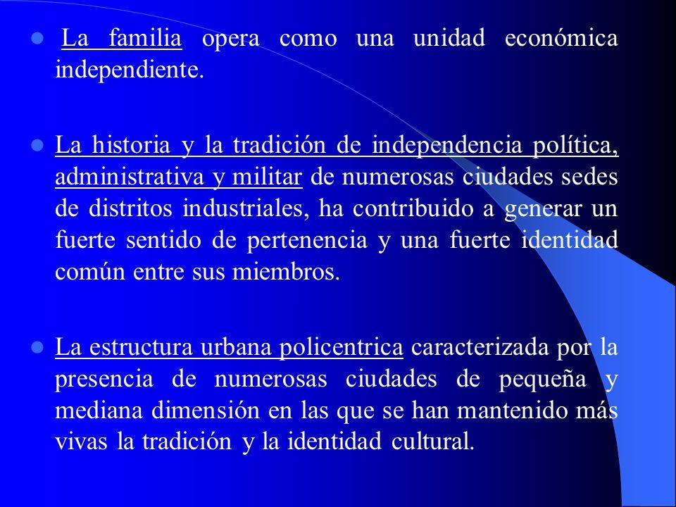 La familia opera como una unidad económica independiente.