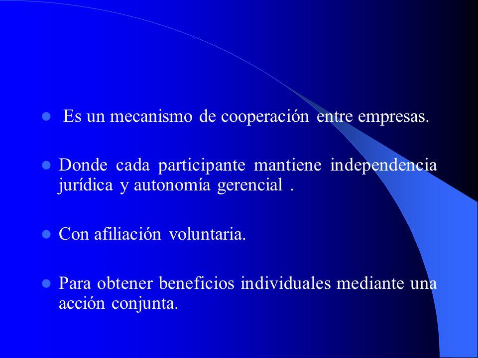 Es un mecanismo de cooperación entre empresas.