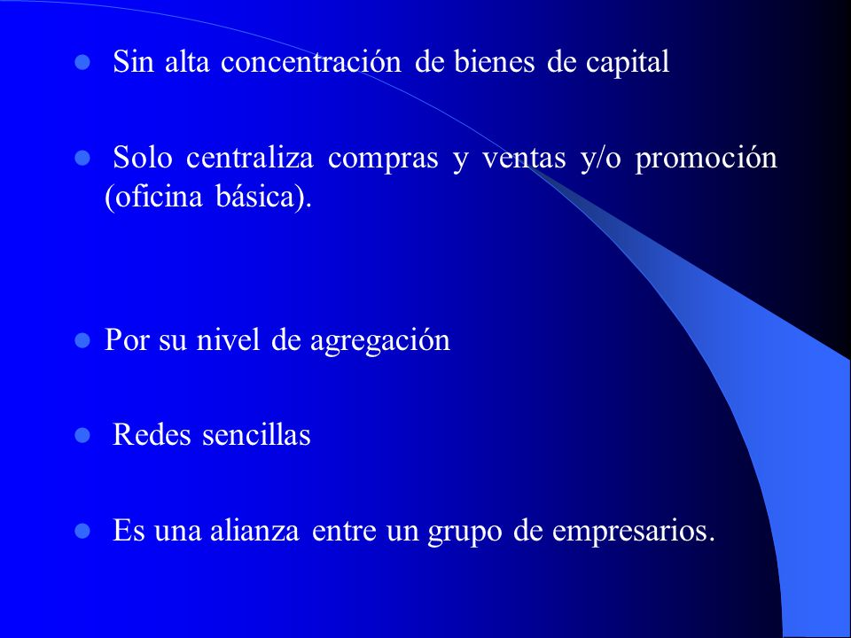 Sin alta concentración de bienes de capital