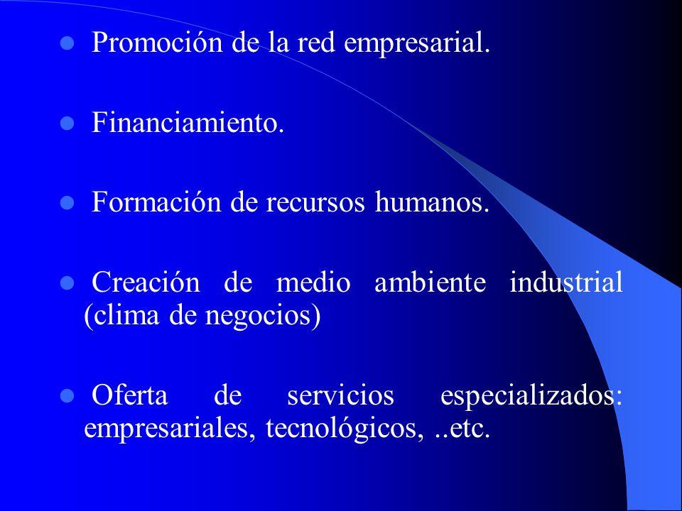 Promoción de la red empresarial.