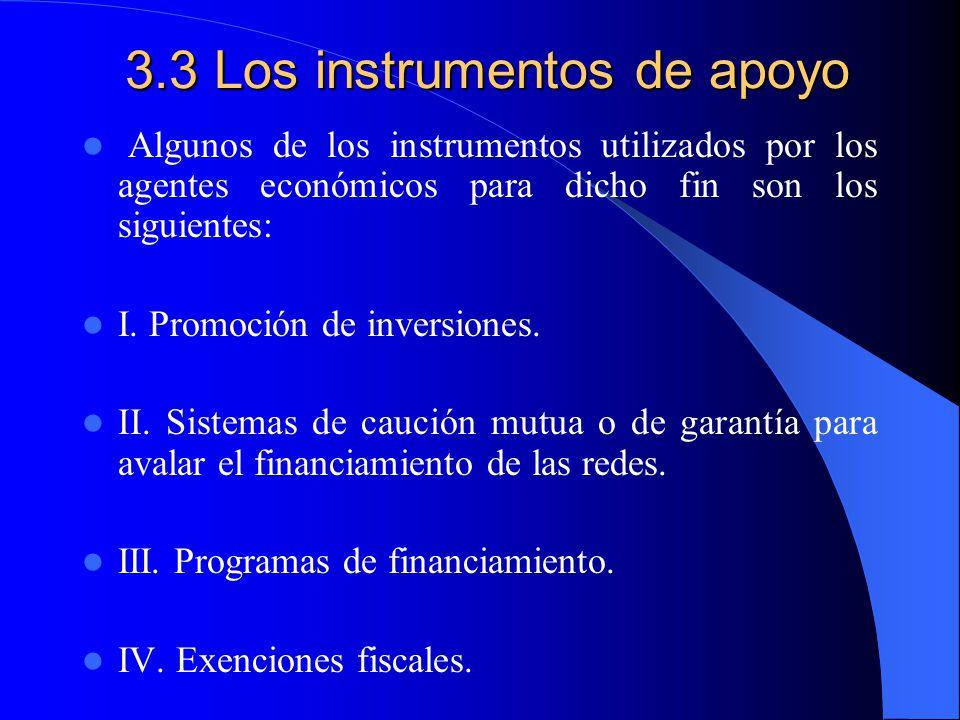 3.3 Los instrumentos de apoyo