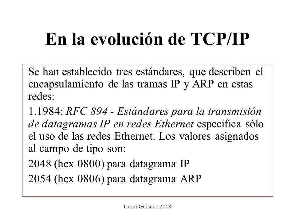 En la evolución de TCP/IP