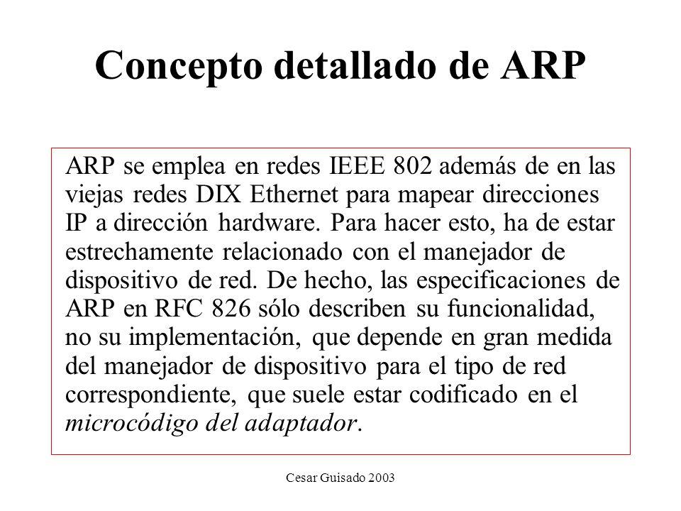 Concepto detallado de ARP
