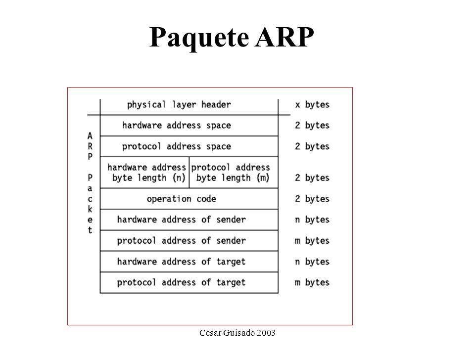 Paquete ARP Cesar Guisado 2003
