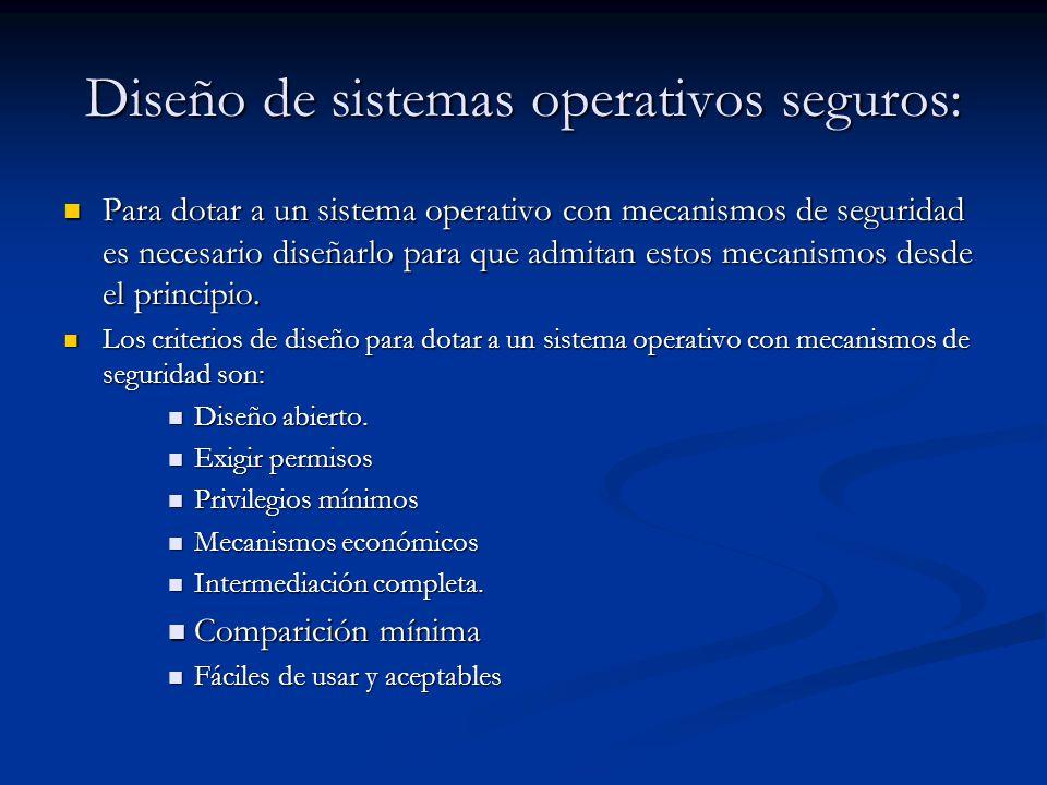 Diseño de sistemas operativos seguros:
