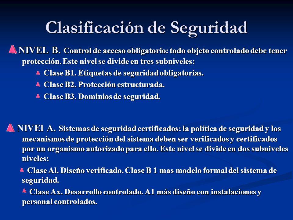 Clasificación de Seguridad