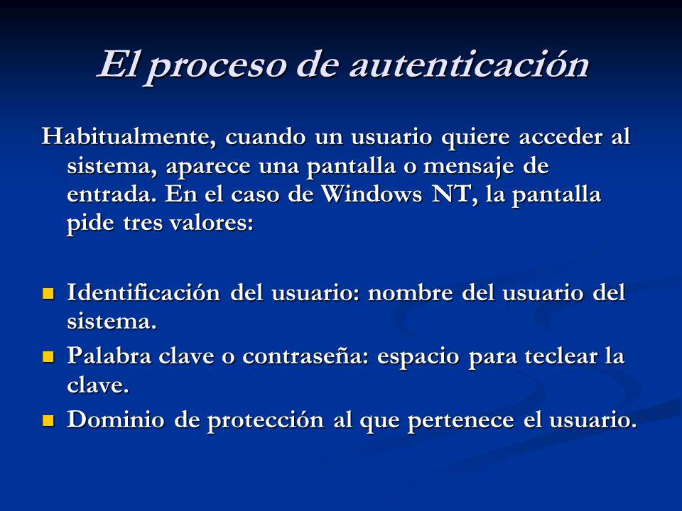El proceso de autenticación