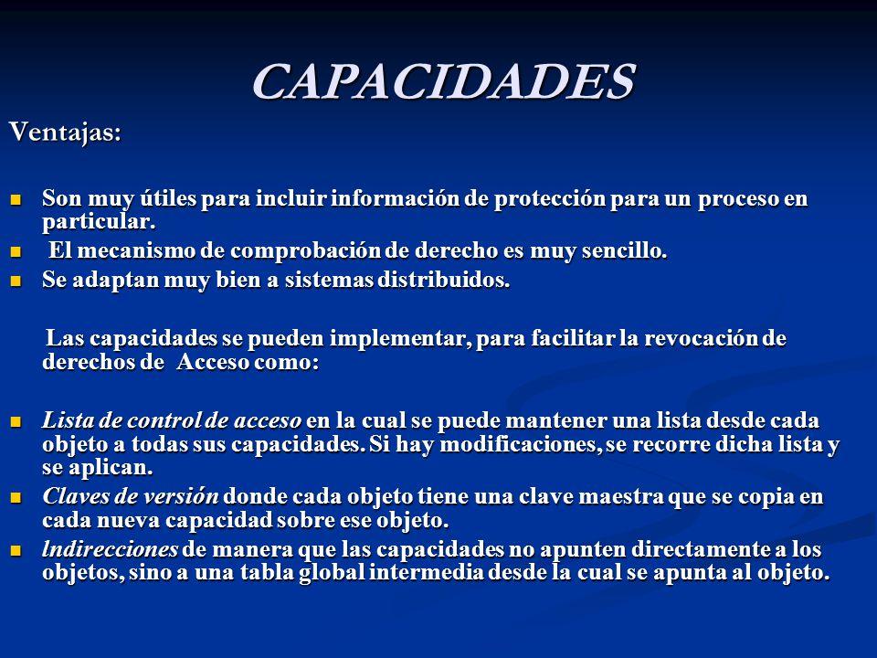 CAPACIDADES Ventajas:
