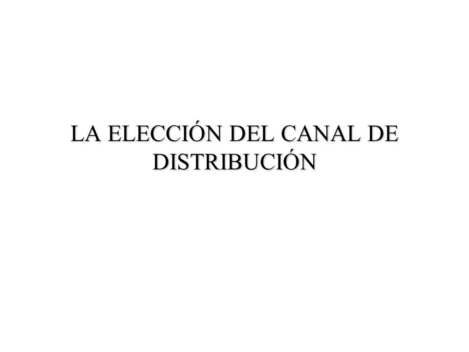 LA ELECCIÓN DEL CANAL DE DISTRIBUCIÓN