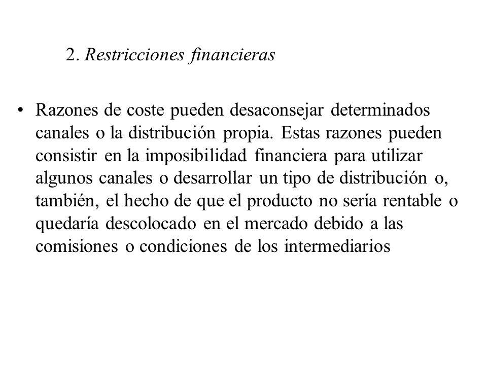 2. Restricciones financieras