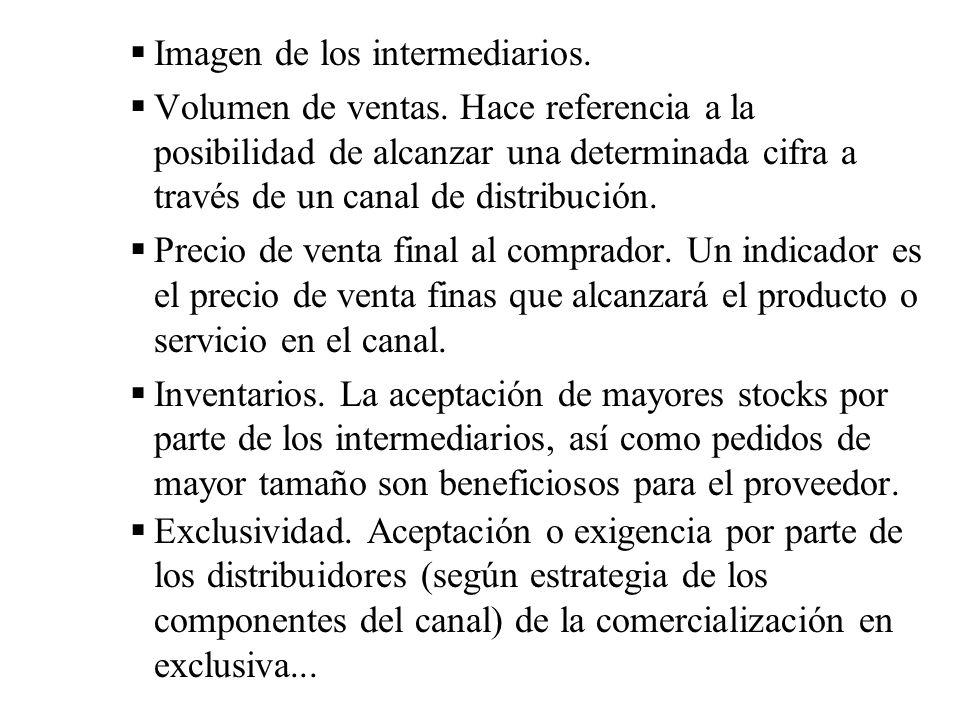 Imagen de los intermediarios.