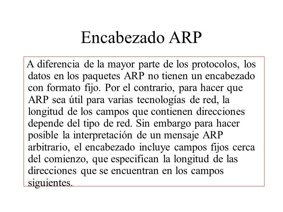Encabezado ARP