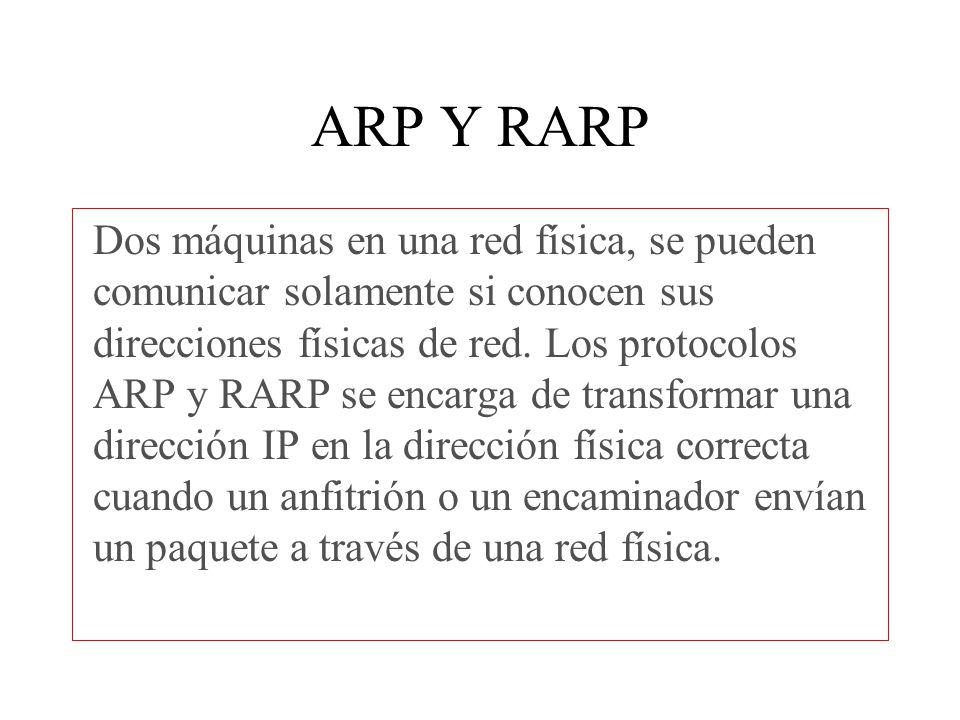 ARP Y RARP