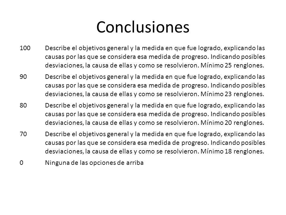 Conclusiones 100.
