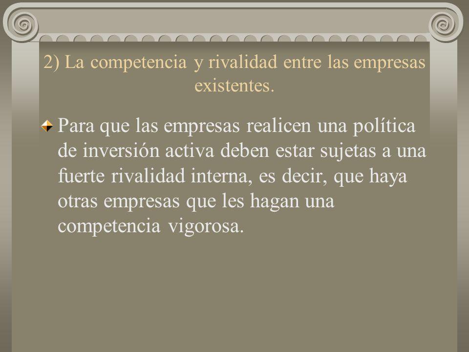 2) La competencia y rivalidad entre las empresas existentes.