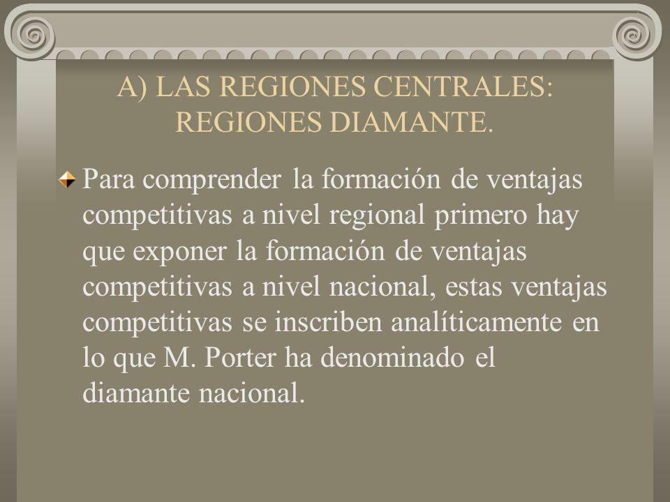 A) LAS REGIONES CENTRALES: REGIONES DIAMANTE.