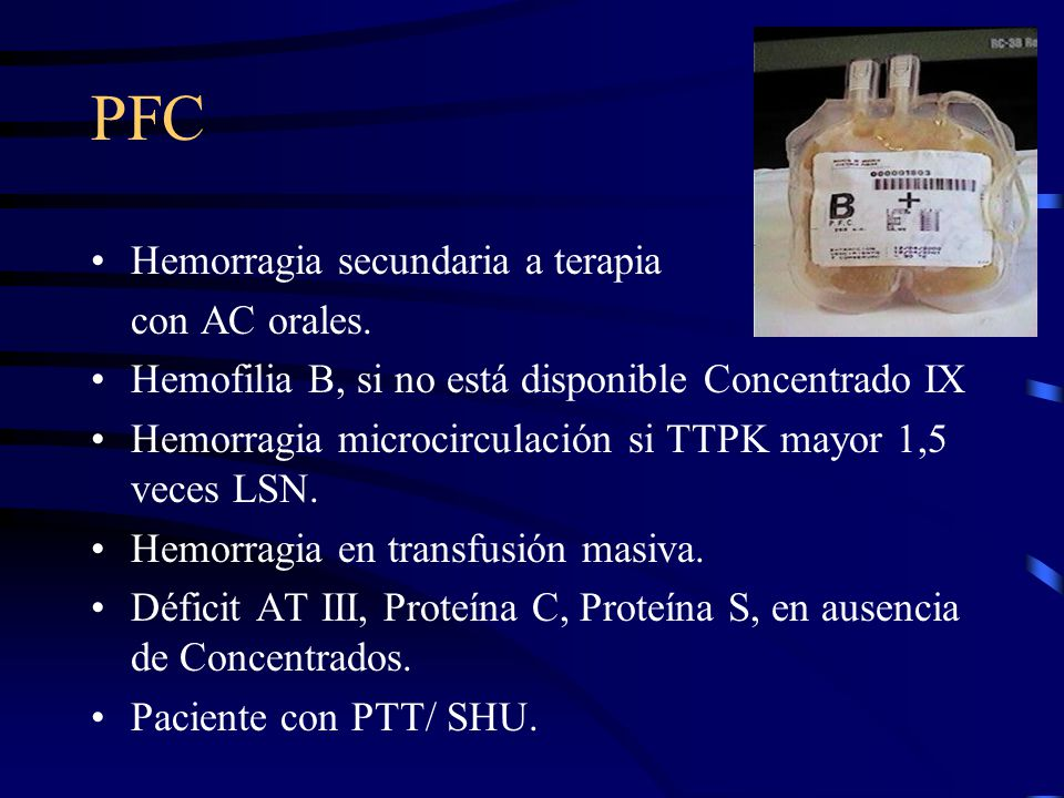 PFC Hemorragia secundaria a terapia con AC orales.