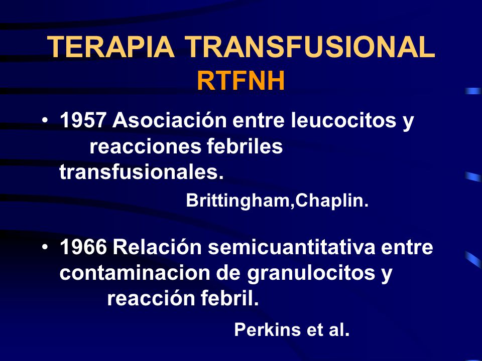 TERAPIA TRANSFUSIONAL RTFNH