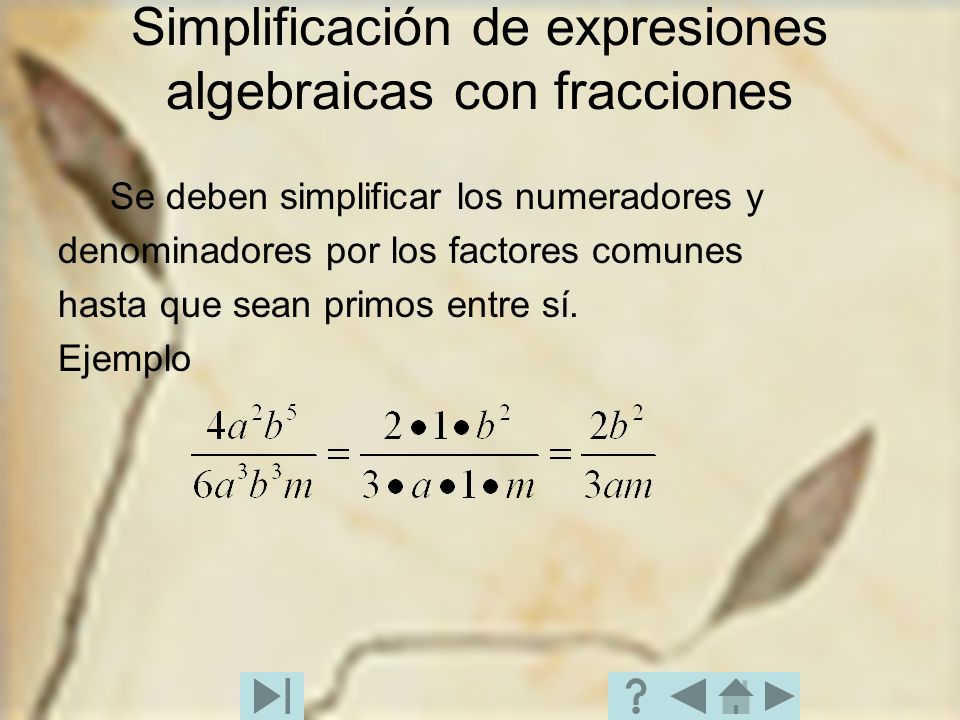 Simplificación de expresiones algebraicas con fracciones