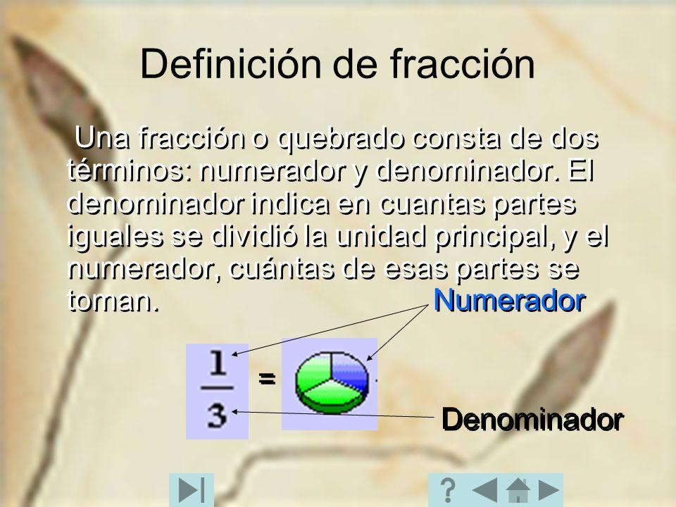 Definición de fracción