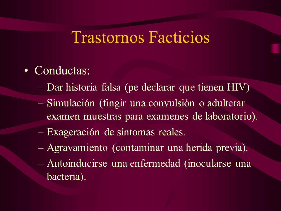 Trastornos Facticios Conductas: