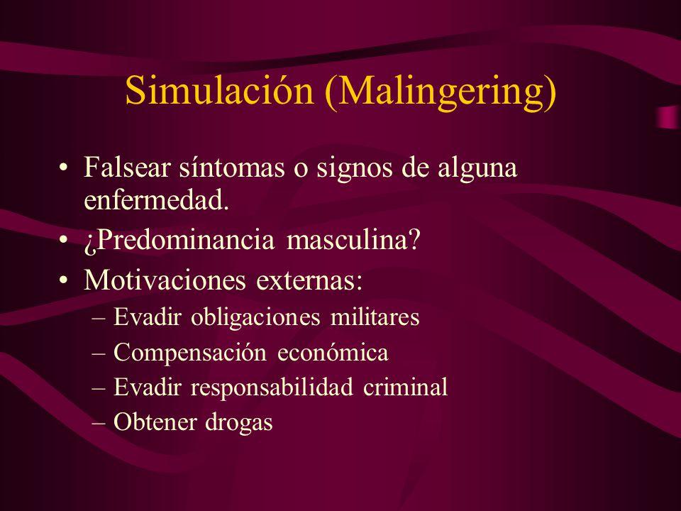 Simulación (Malingering)