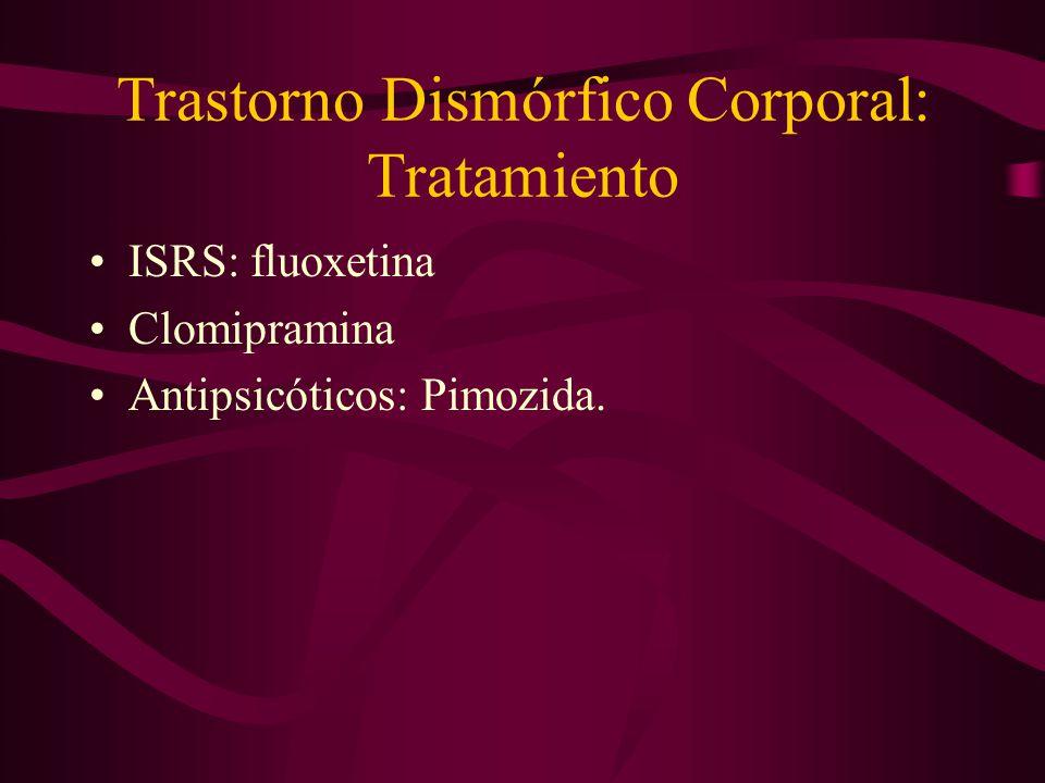 Trastorno Dismórfico Corporal: Tratamiento
