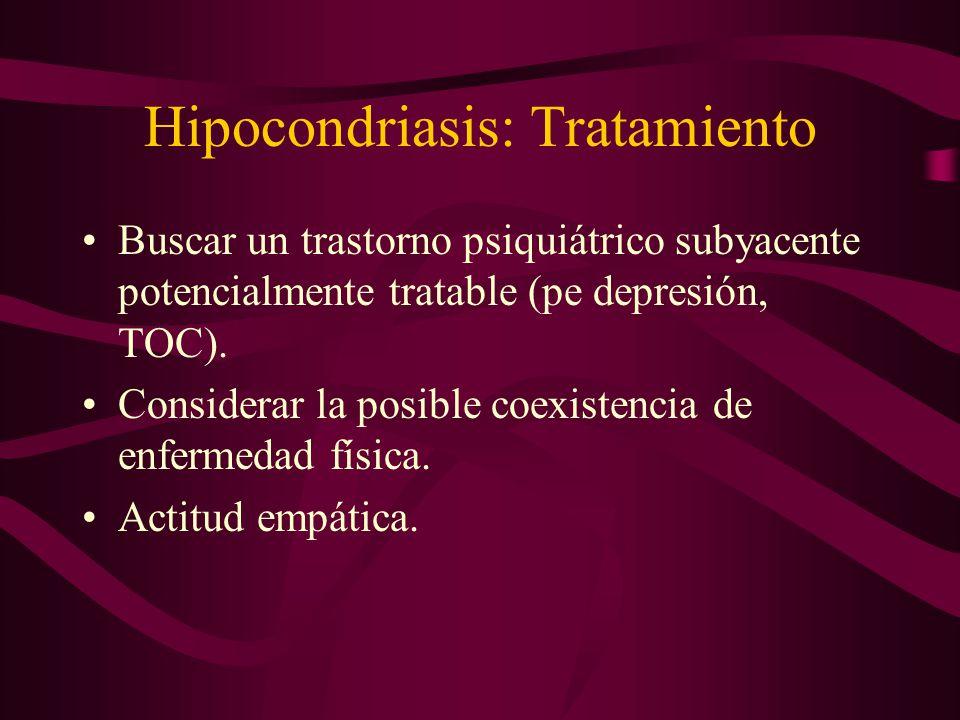 Hipocondriasis: Tratamiento