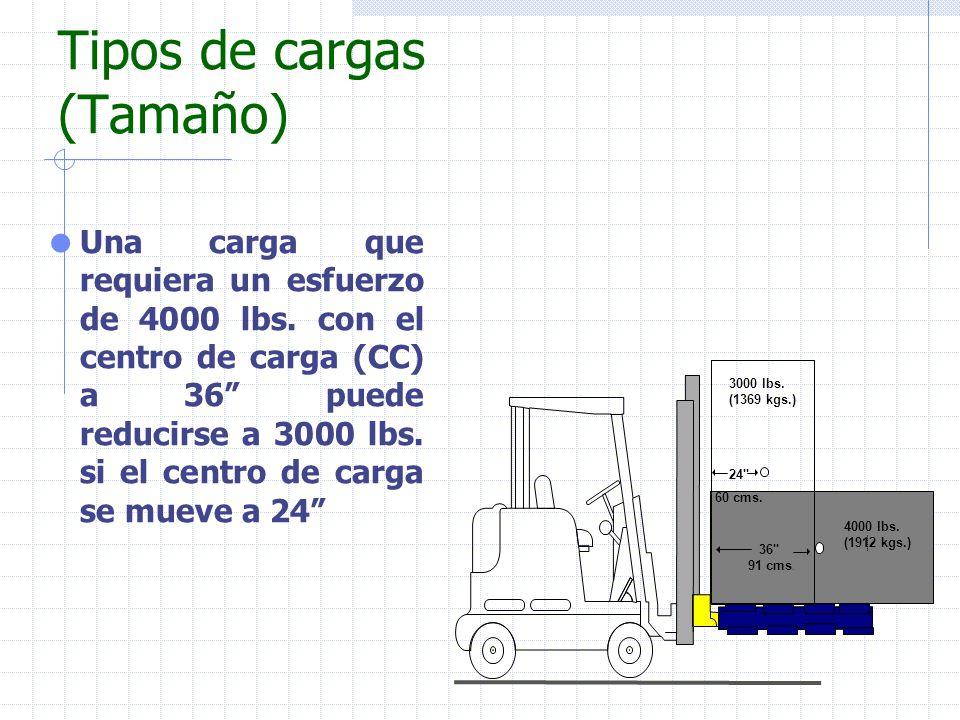Tipos de cargas (Tamaño)