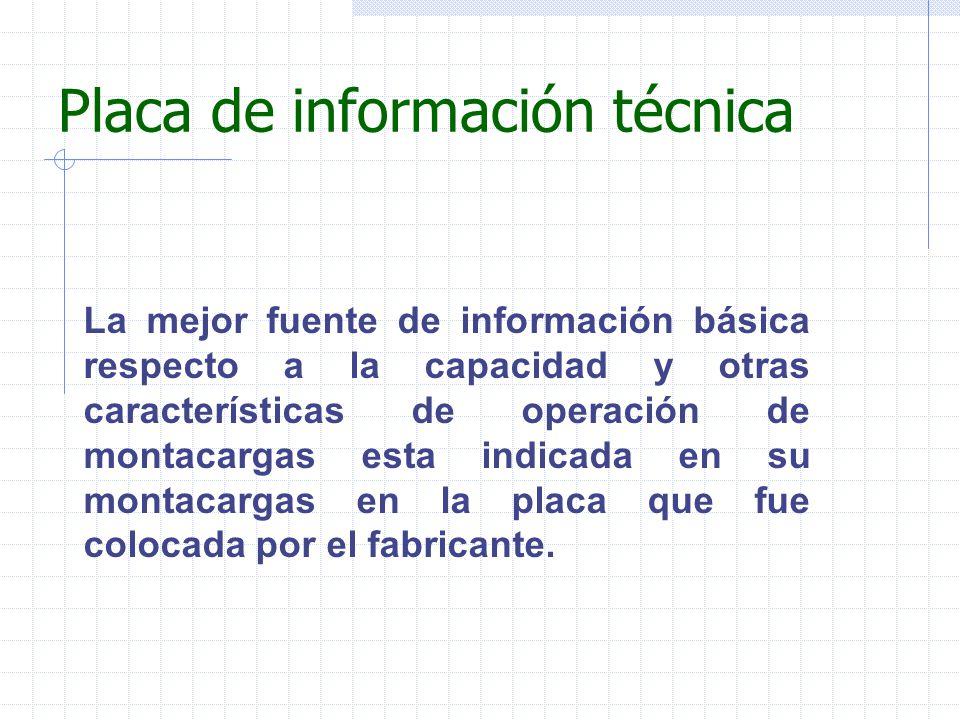 Placa de información técnica