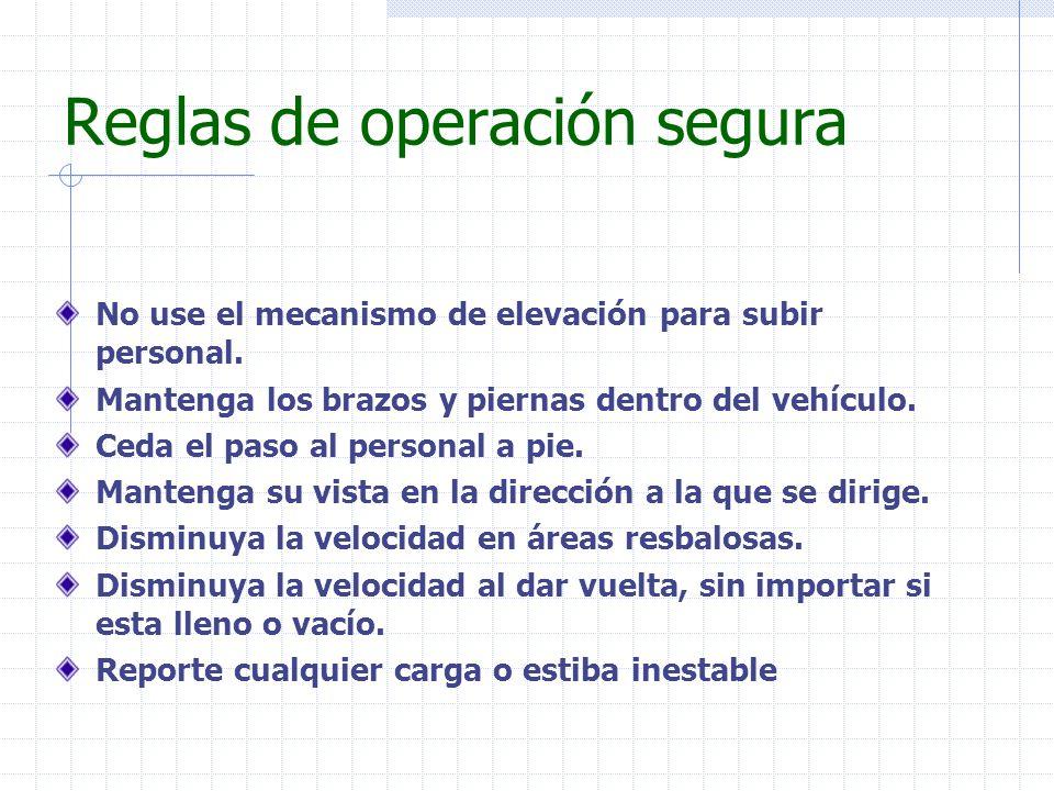 Reglas de operación segura