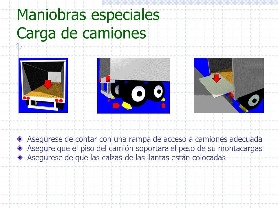 Maniobras especiales Carga de camiones