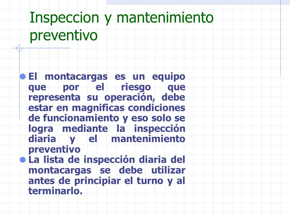 Inspeccion y mantenimiento preventivo