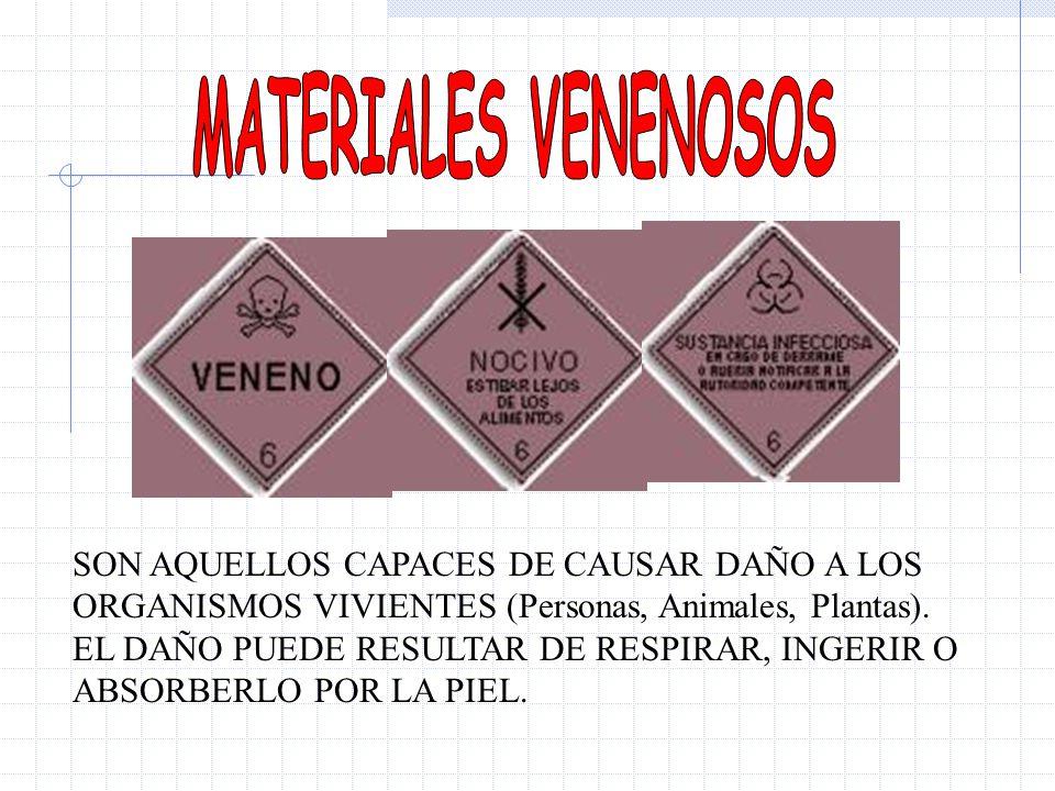 MATERIALES VENENOSOS