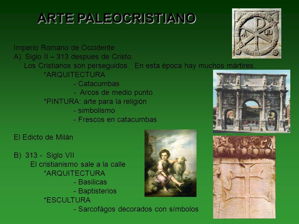 ARTE PALEOCRISTIANO Imperio Romano de Occidente