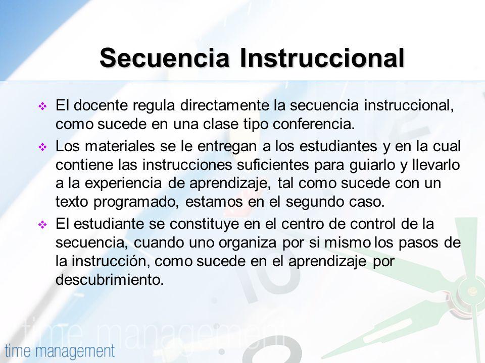 Secuencia Instruccional