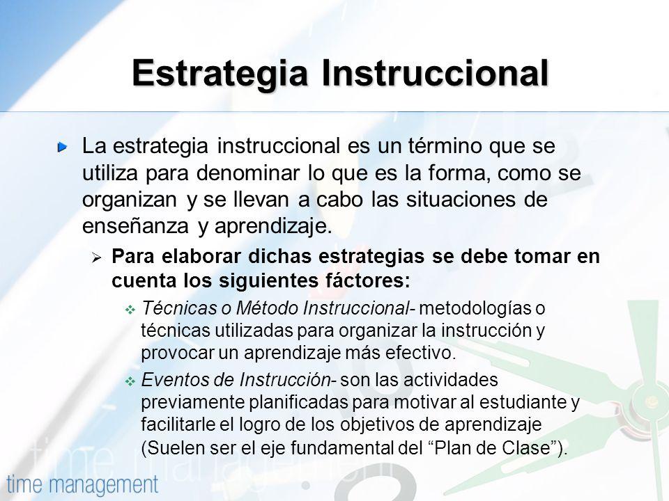 Estrategia Instruccional